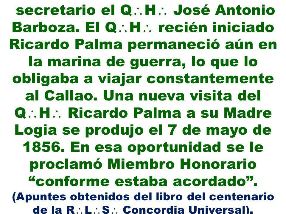 secretario el QH José Antonio Barboza