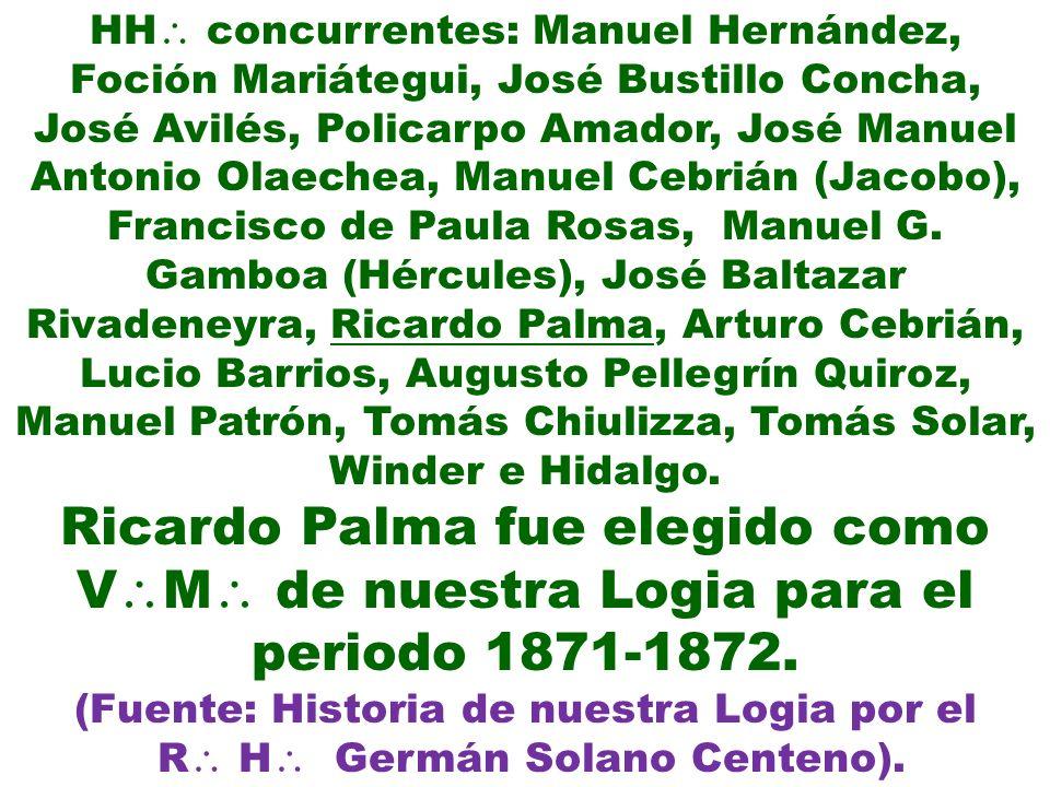 Ricardo Palma fue elegido como