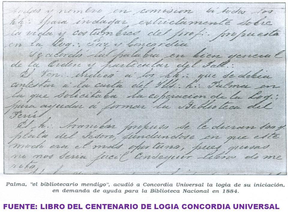 FUENTE: LIBRO DEL CENTENARIO DE LOGIA CONCORDIA UNIVERSAL