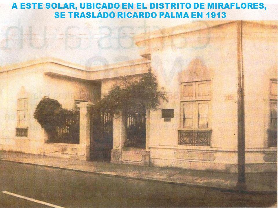 A ESTE SOLAR, UBICADO EN EL DISTRITO DE MIRAFLORES,