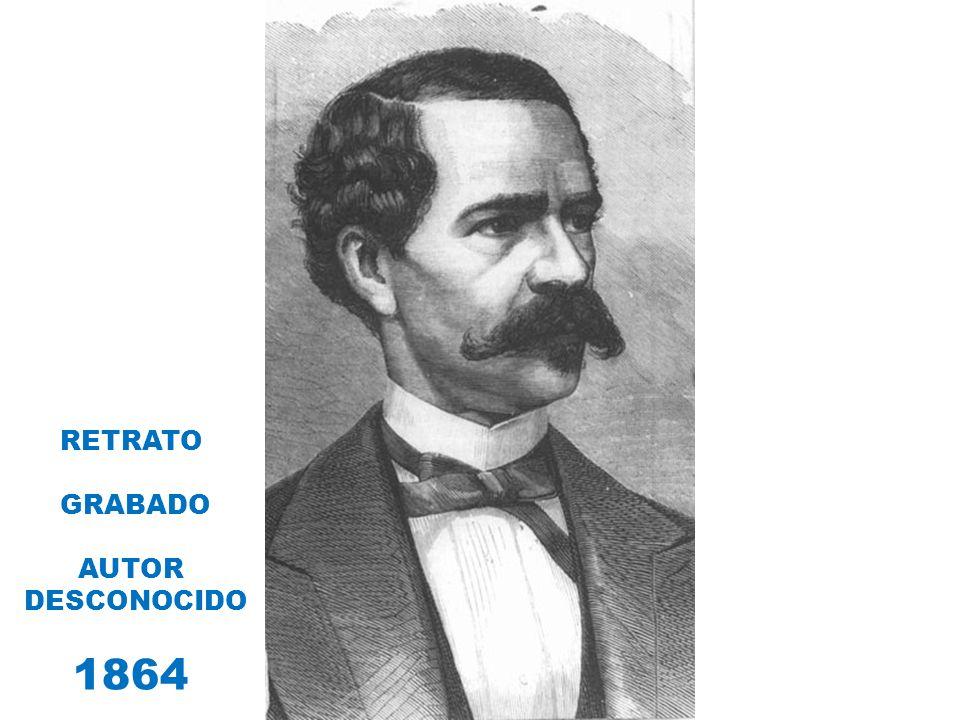 RETRATO GRABADO AUTOR DESCONOCIDO 1864