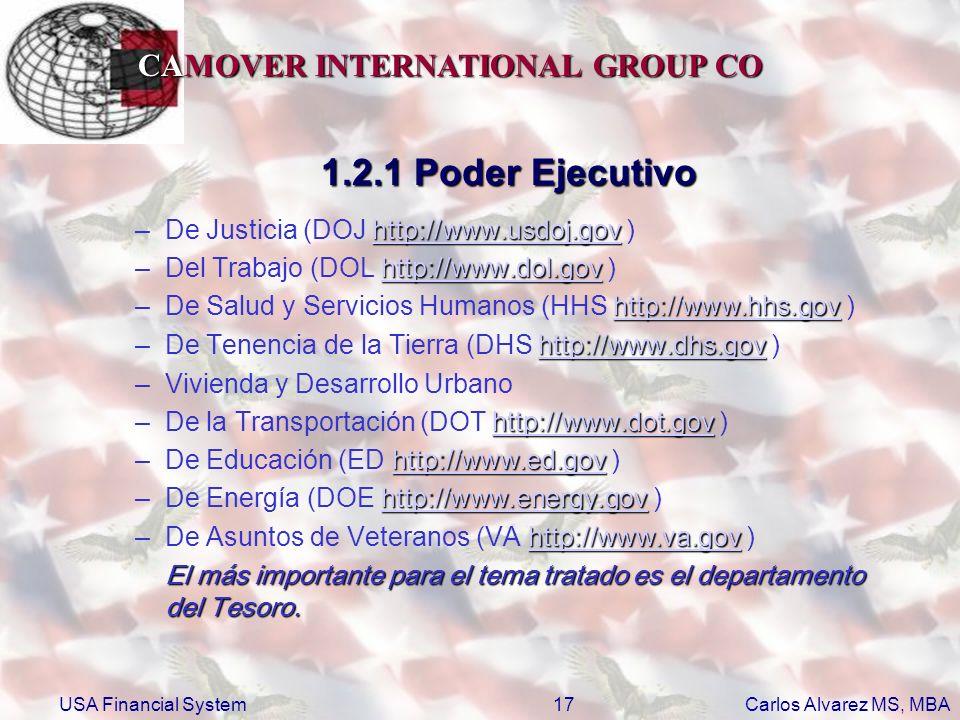 1.2.1 Poder Ejecutivo De Justicia (DOJ http://www.usdoj.gov )