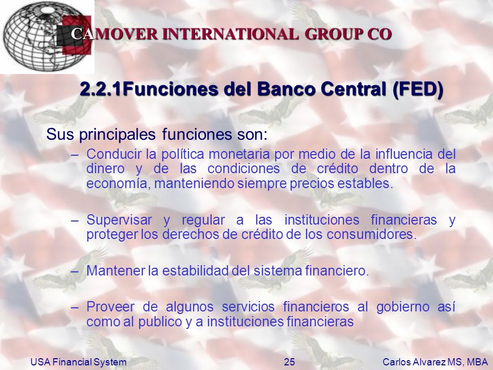 2.2.1Funciones del Banco Central (FED)