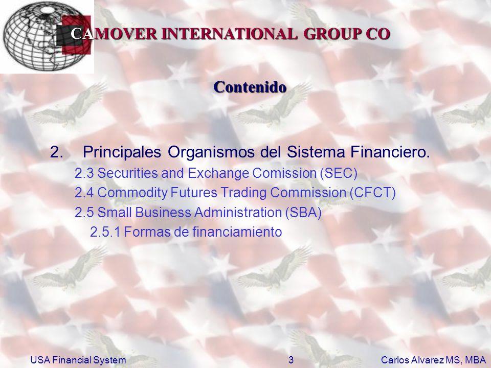 Principales Organismos del Sistema Financiero.