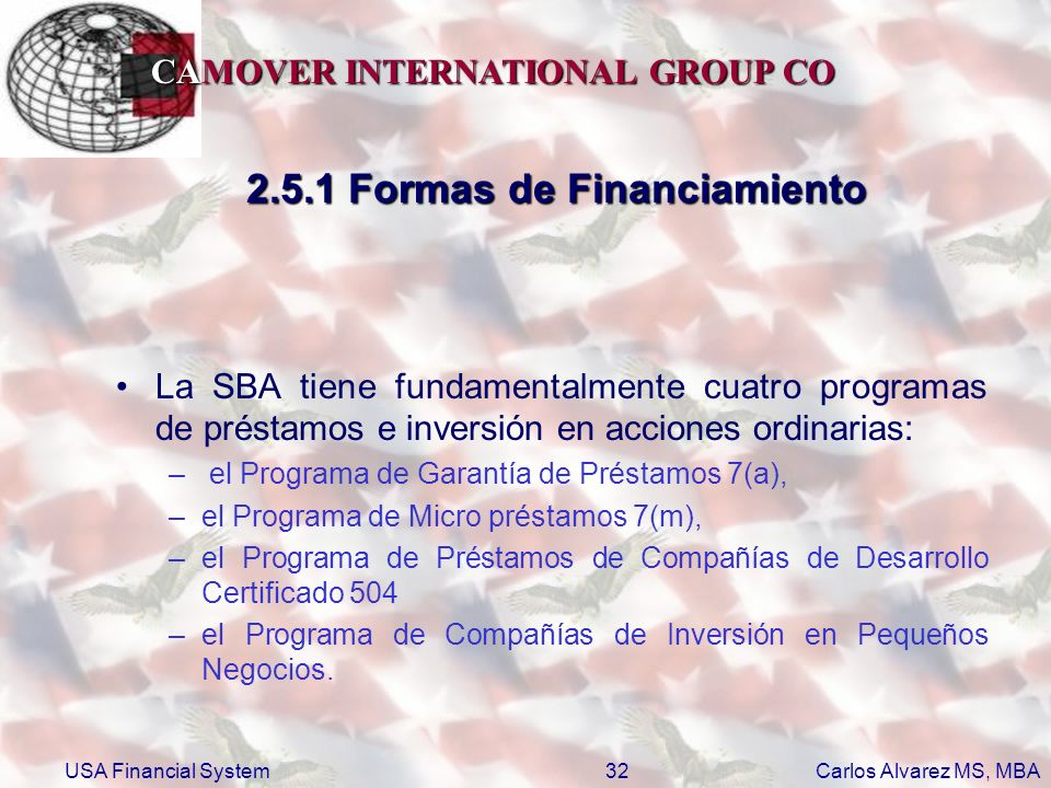 2.5.1 Formas de Financiamiento