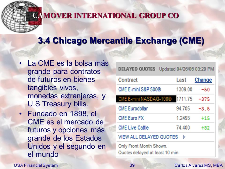 3.4 Chicago Mercantile Exchange (CME)