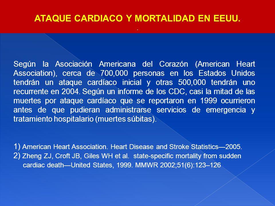 ATAQUE CARDIACO Y MORTALIDAD EN EEUU.