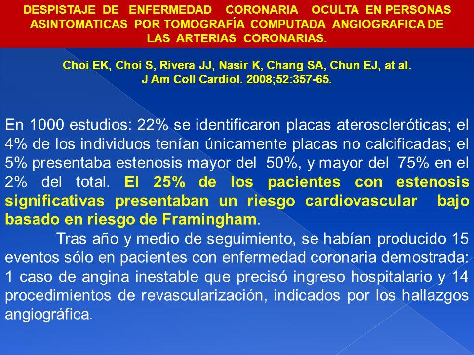 DESPISTAJE DE ENFERMEDAD CORONARIA OCULTA EN PERSONAS