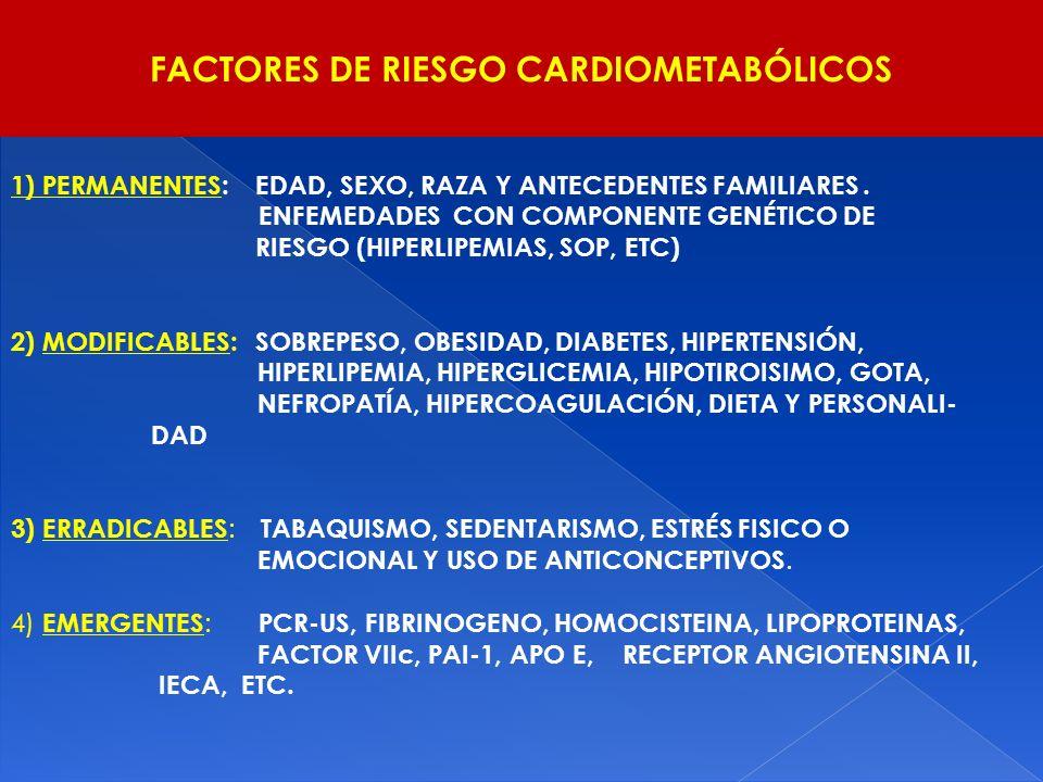 FACTORES DE RIESGO CARDIOMETABÓLICOS