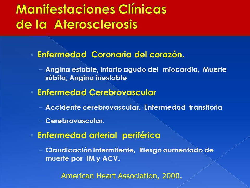 Manifestaciones Clínicas de la Aterosclerosis