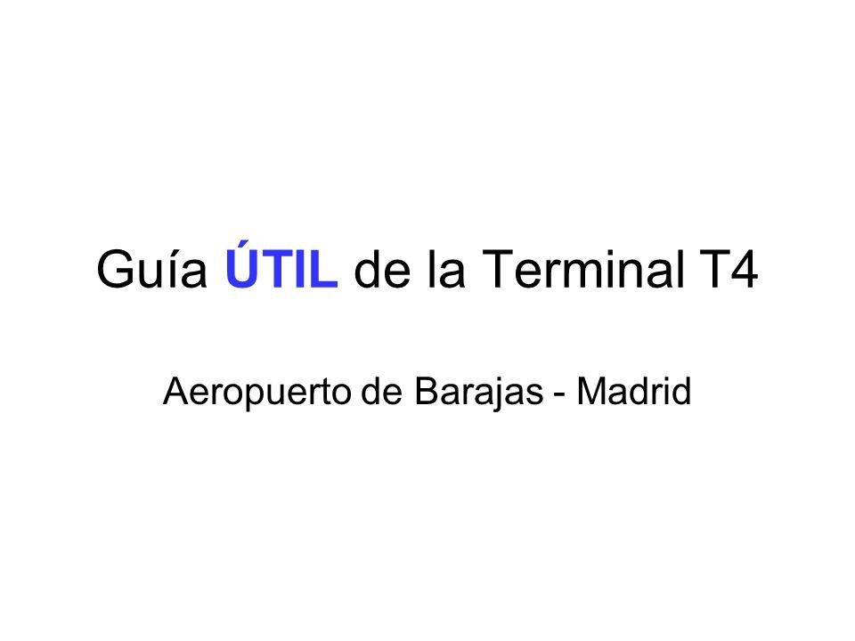 Guía ÚTIL de la Terminal T4