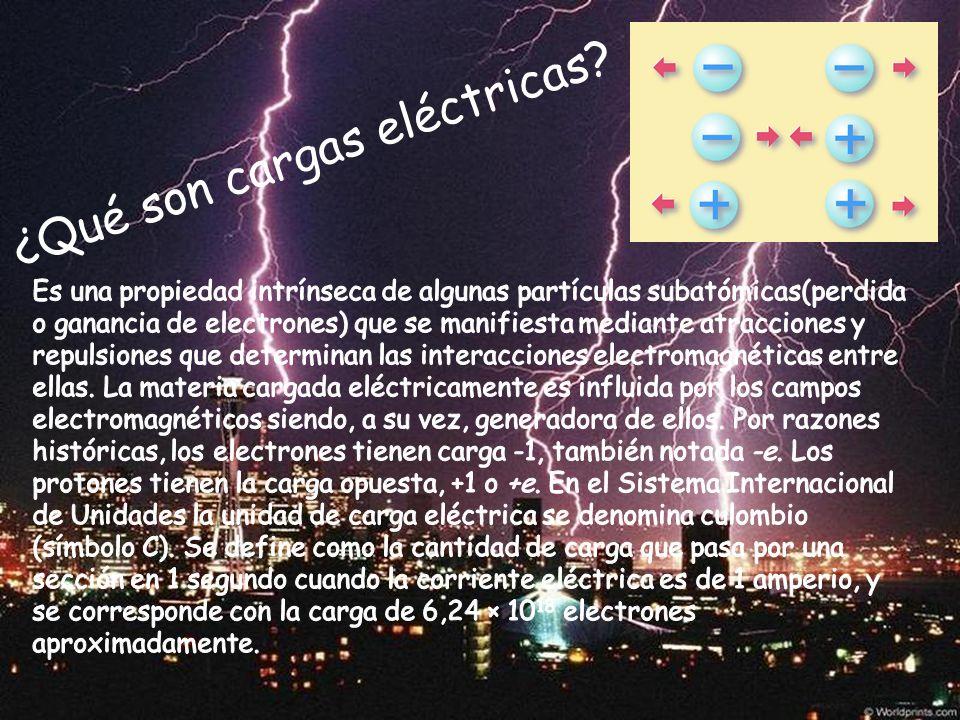 ¿Qué son cargas eléctricas