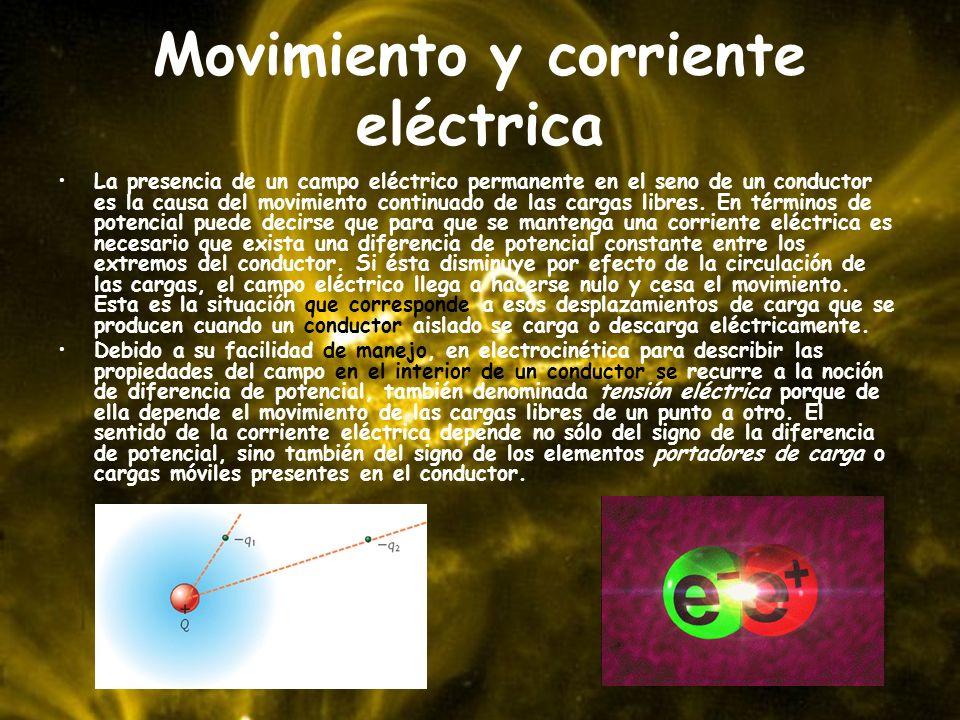 Movimiento y corriente eléctrica