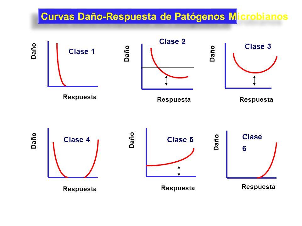 Curvas Daño-Respuesta de Patógenos Microbianos