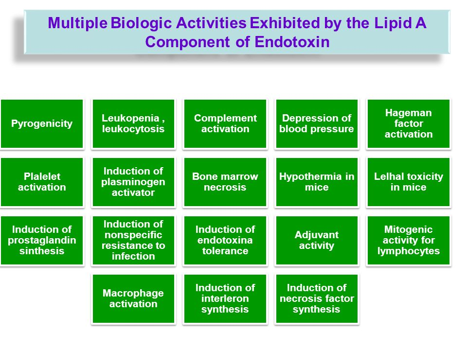Multiple Biologic Activities Exhibited by the Lipid A Component of Endotoxin
