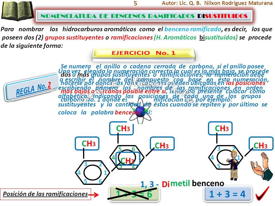 Lic. Q. B. Nilxon RoMa 1 + 5 = 6 1 + 3 = 4 EJERCICIO No. 1 REGLA No. 1
