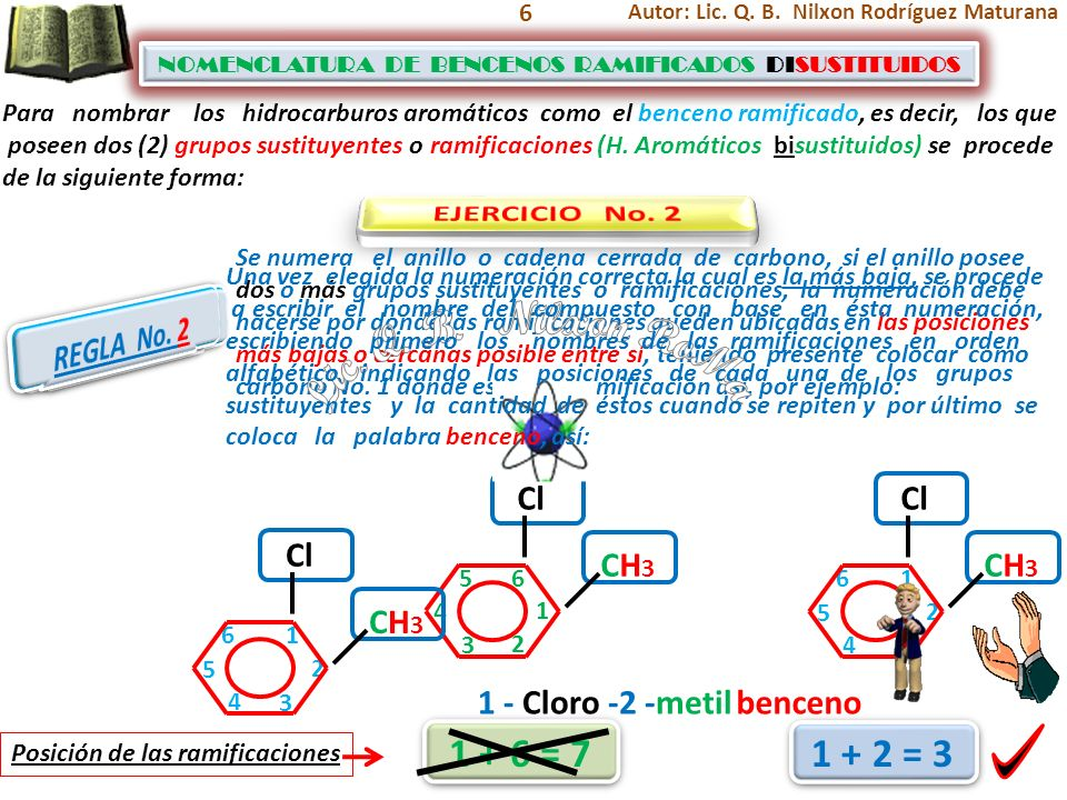 Lic. Q. B. Nilxon RoMa 1 + 6 = 7 1 + 2 = 3 EJERCICIO No. 2 REGLA No. 2