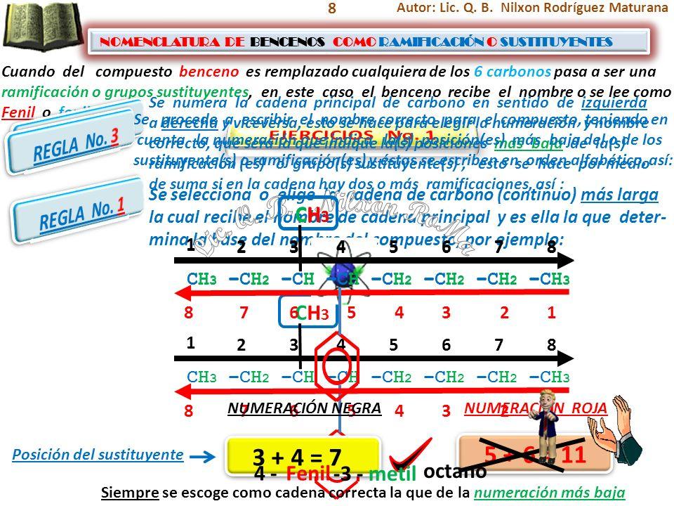 Lic. Q. B. Nilxon RoMa 5 + 6 = 11 3 + 4 = 7 REGLA No. 2