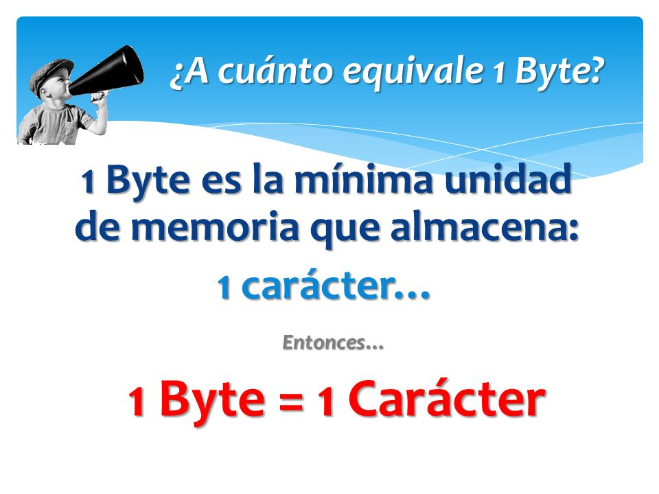 ¿A cuánto equivale 1 Byte