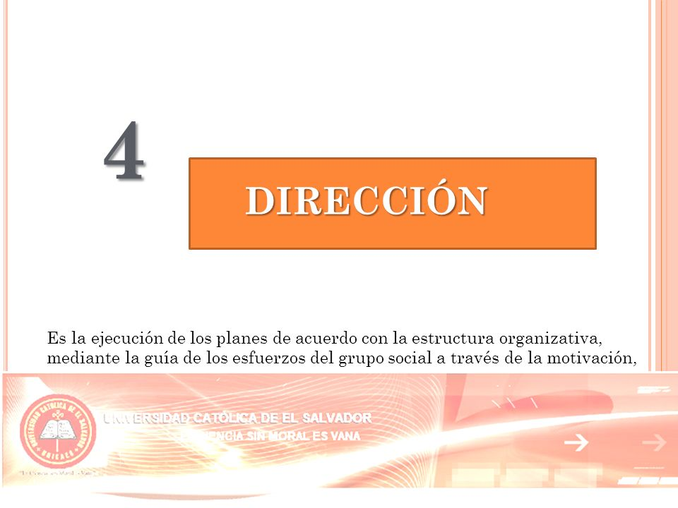 4 DIRECCIÓN.