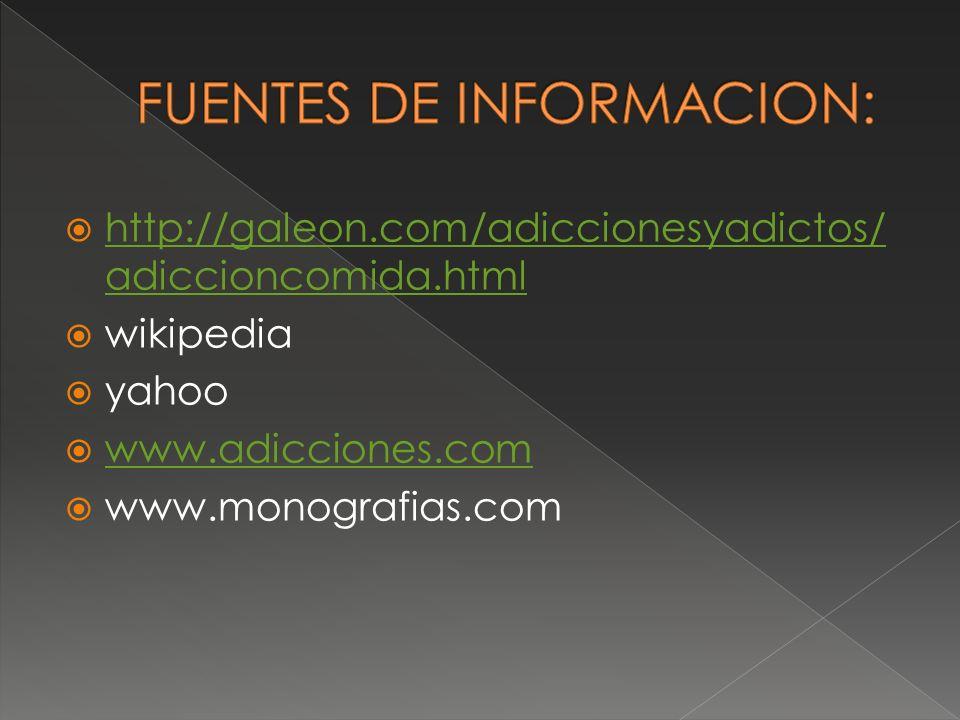 FUENTES DE INFORMACION: