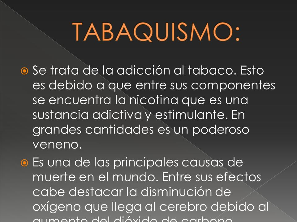 TABAQUISMO: