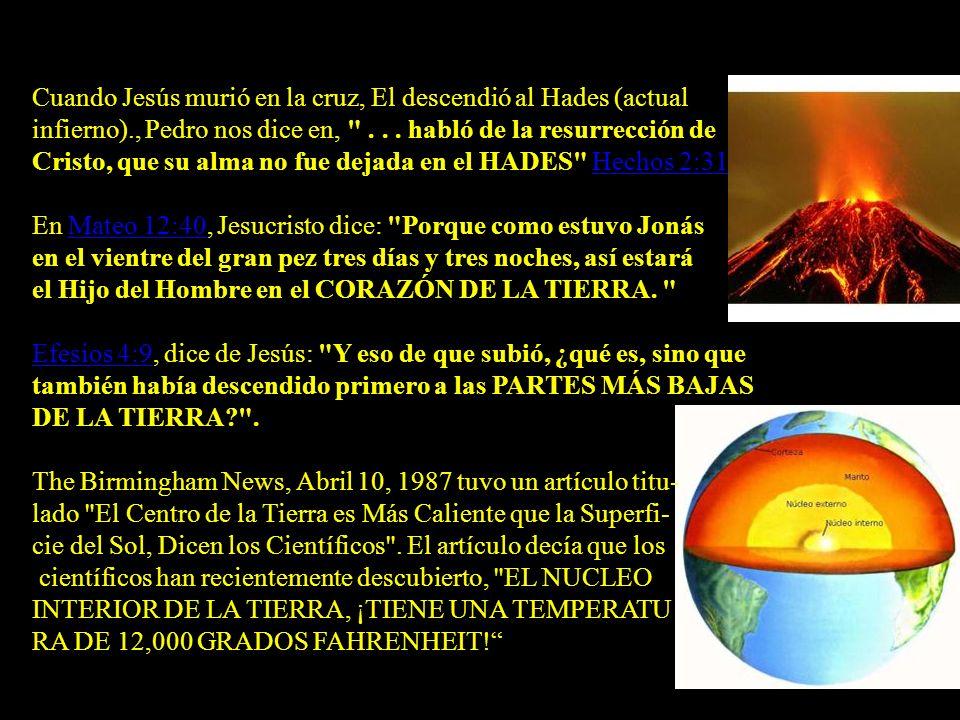 LA BIBLIA DICE DONDE SE ENCUENTRA EL INFIERNO