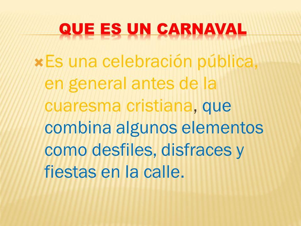 Que es un carnaval