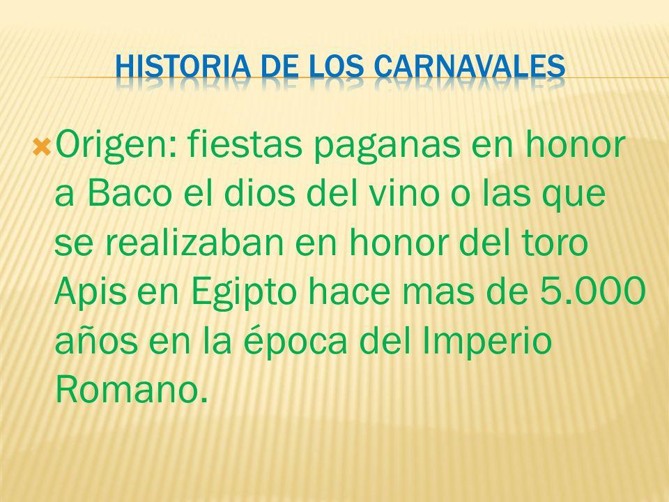 Historia de los carnavales