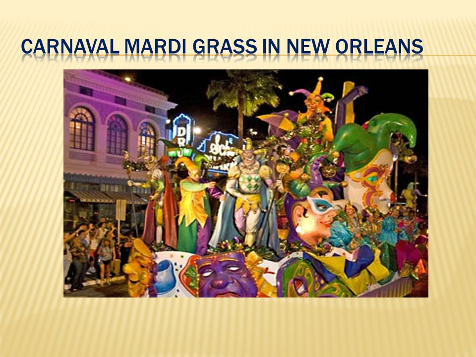 Carnaval mardi grass in new orleans