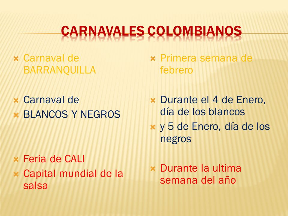 Carnavales colombianos