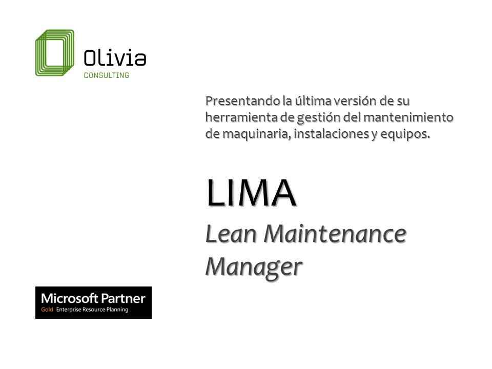 LIMA Lean Maintenance Manager