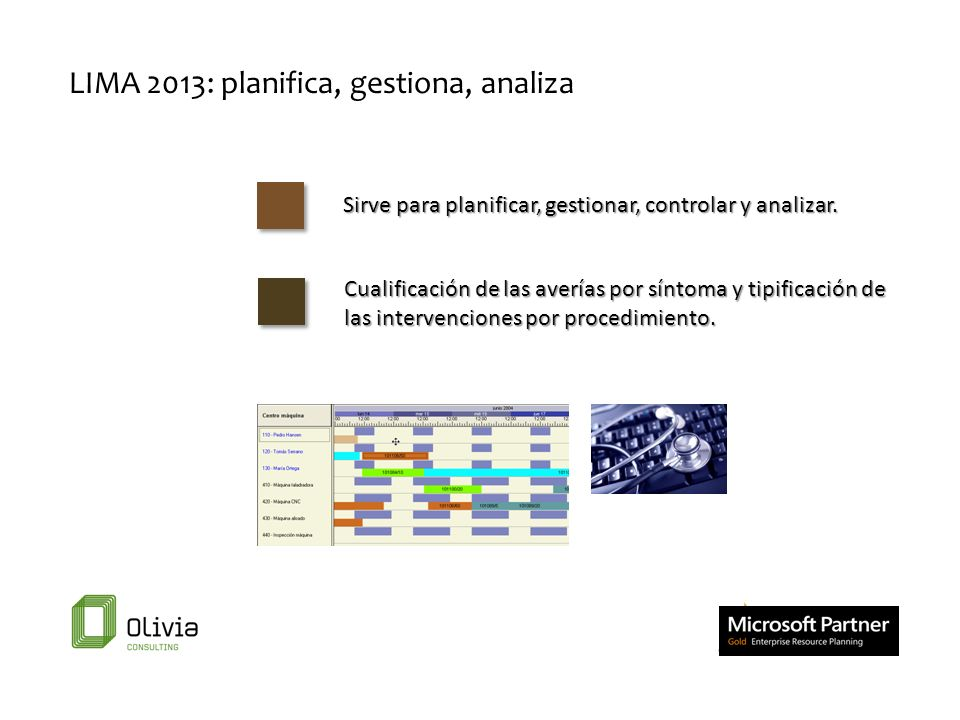 LIMA 2013: planifica, gestiona, analiza