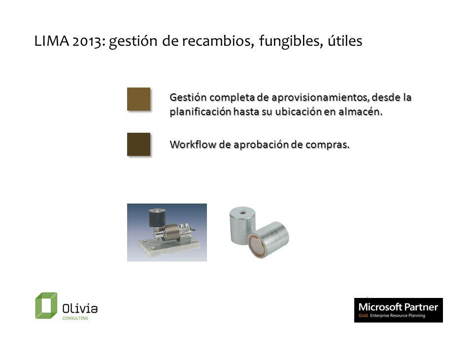 LIMA 2013: gestión de recambios, fungibles, útiles