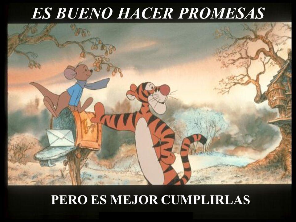 ES BUENO HACER PROMESAS
