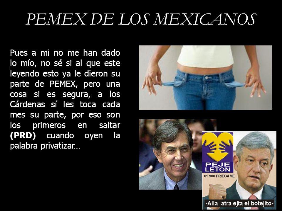 PEMEX DE LOS MEXICANOS