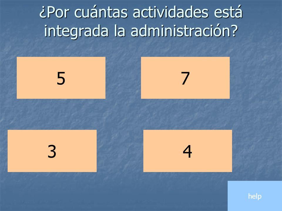 ¿Por cuántas actividades está integrada la administración