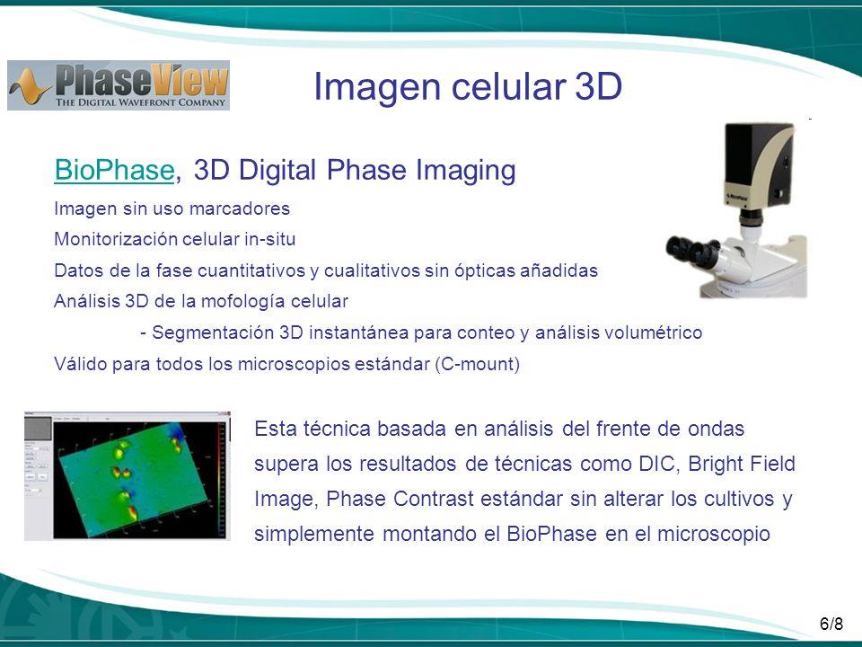 Imagen celular 3D BioPhase, 3D Digital Phase Imaging
