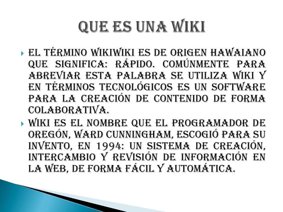 Que es una wiki