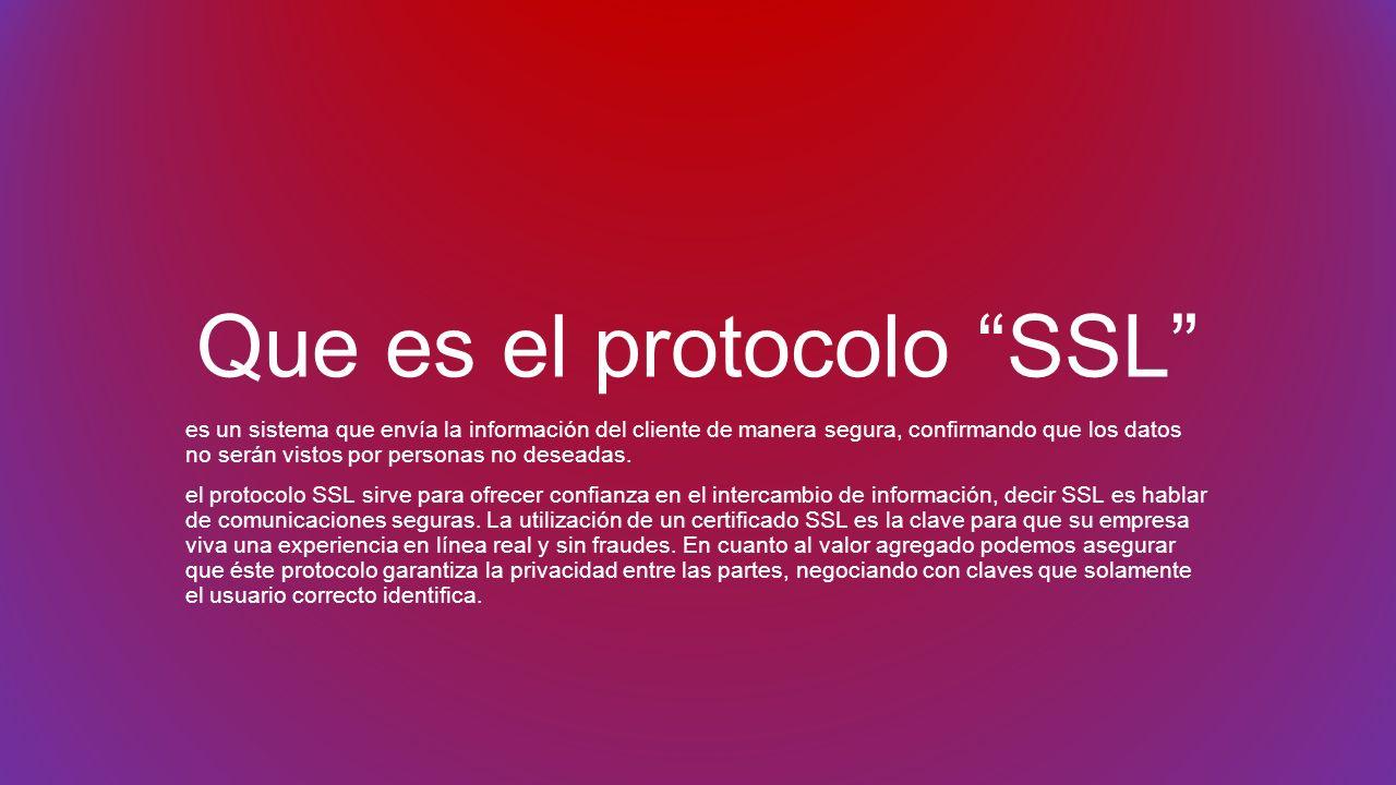 Que es el protocolo SSL