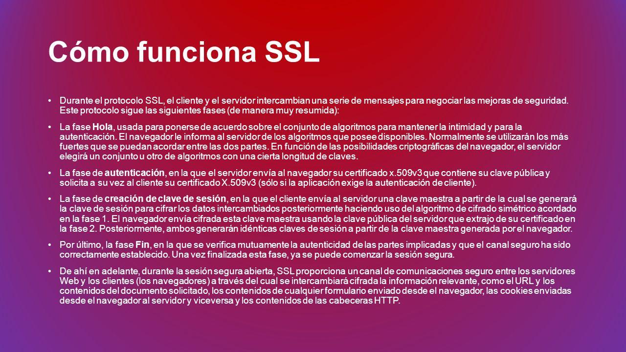 Cómo funciona SSL