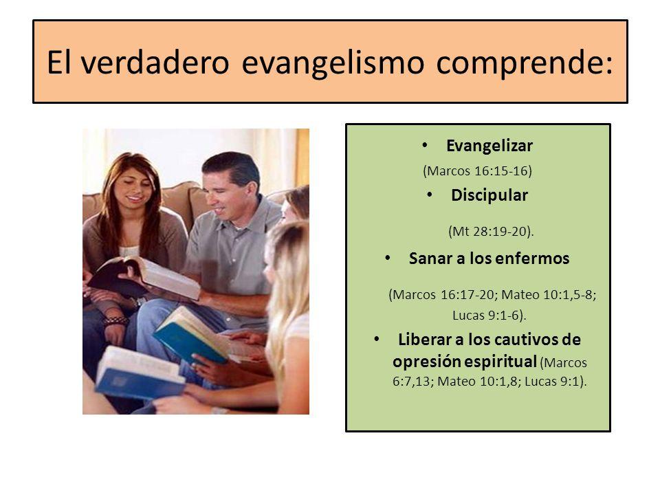 El verdadero evangelismo comprende: