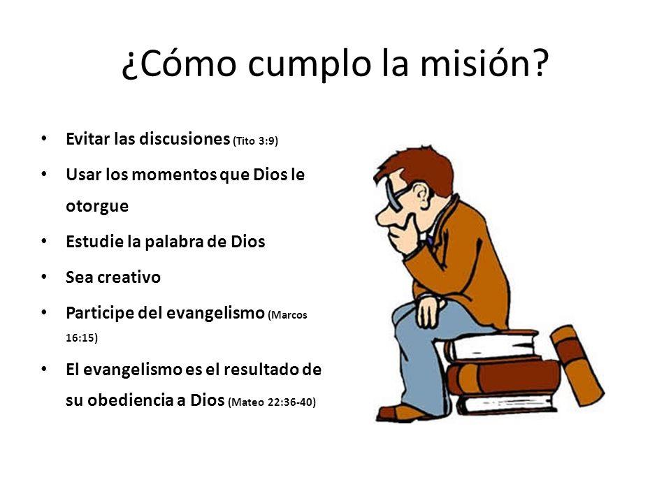 ¿Cómo cumplo la misión Evitar las discusiones (Tito 3:9)