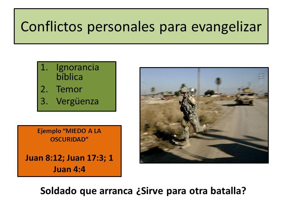 Conflictos personales para evangelizar