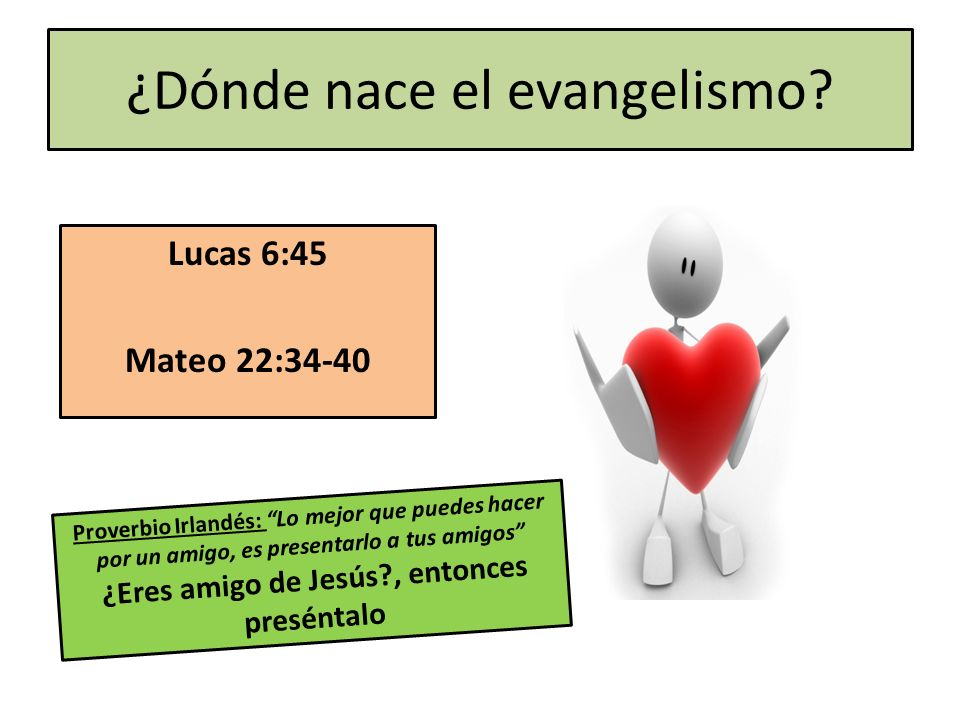 ¿Dónde nace el evangelismo