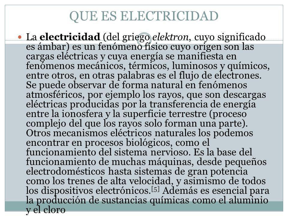 QUE ES ELECTRICIDAD