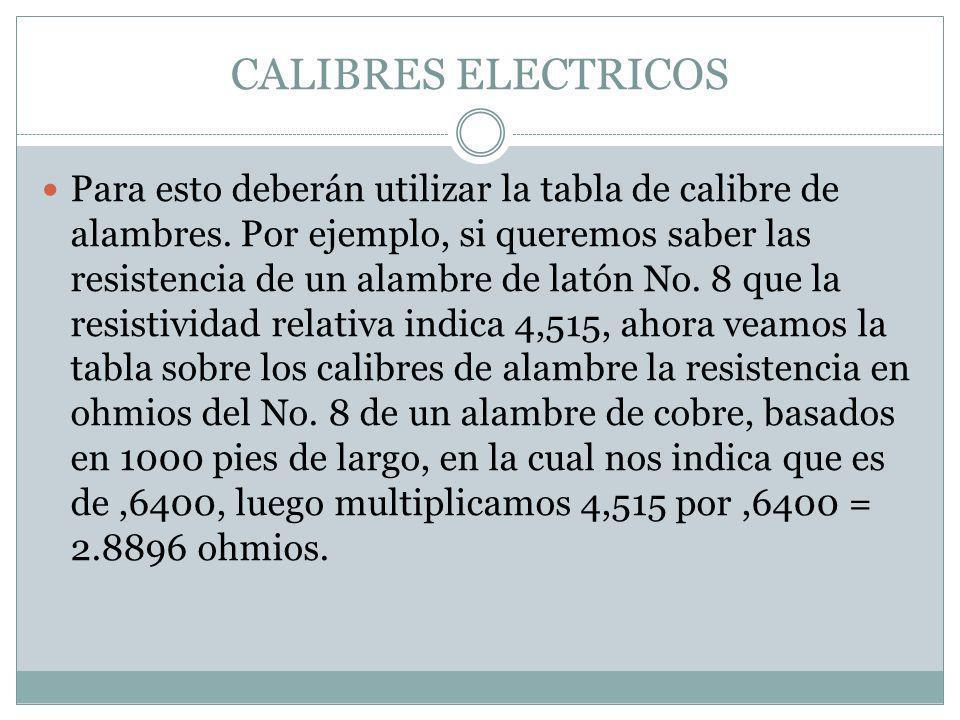 CALIBRES ELECTRICOS