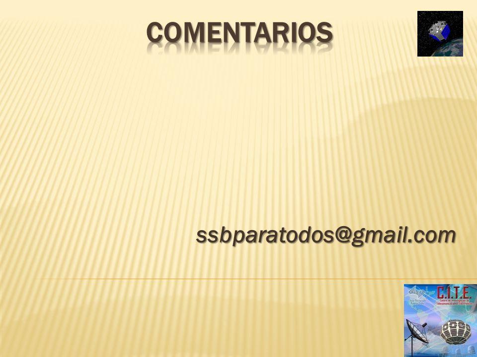 Comentarios ssbparatodos@gmail.com