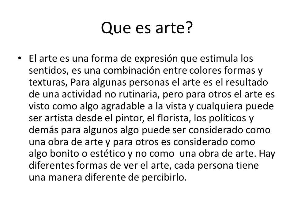 Que es arte