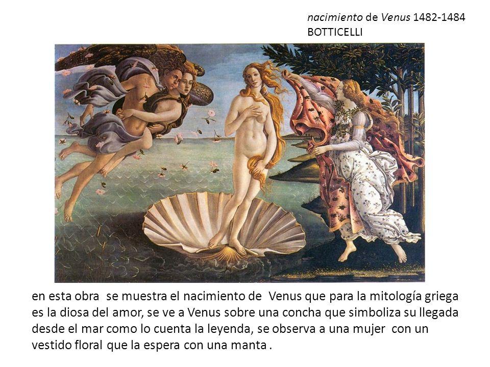 nacimiento de Venus 1482-1484 BOTTICELLI